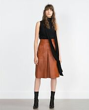 PLEATED TRENDY BLACK  MINI PARTY LEATHER SKIRT REAL LEATHER WOMEN LEATHER SKIRT