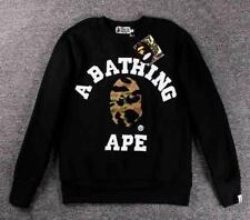 Men's Bape Classical Tomentose Ape Icon Pattern Sweater A Bathing Ape Cool Coat