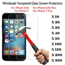 Wholesale Lot Tempered Glass Screen Protector Film for Apple iPhone 6 8 Plus / X