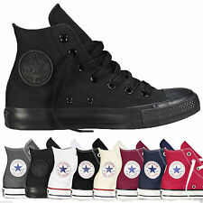 New Mens Womens Converse Chuck Taylor All Star Hi Tops  Unisex Canvas Trainers