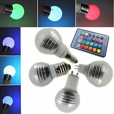 E14 E27 GU10 MR16 LED RGB Magic Bulb Light 16 Colors Laser Lamp + IR Controller