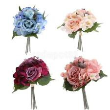 Simulation Rose Silk Artificial Flower Bouquet Wedding Home Party Decoration