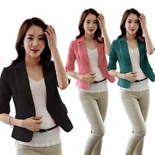 Women's Fashion Candy Colors Solid Slim Casual Suit Blazer Jacket Outerwear