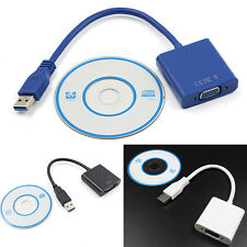 High Quality USB 3.0 to VGA Video Graphic Card Display External Cable Adapter AU