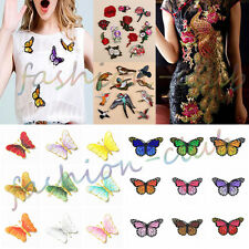 1x Handmade Embroidery Butterfly Peacock Sequin Sew Patches Hat Dress Appliques