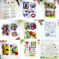 DIY Transparent Silicone Rubber Stamps Clear Cling Sheet Scrapbooking Crafts PN