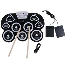 Digital PC Desktop USB Silicone Foldable Roll Up Drum Pad Kit With Drumstick
