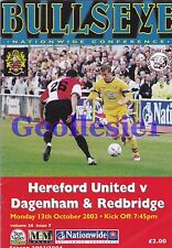 Hereford United Home Programmes Choose from drop Down List