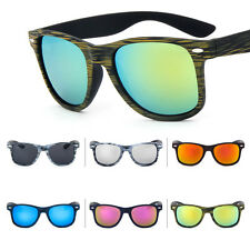 Unisex Mens Womens Sports Retro Vintage Wood Grain Shades Sunglasses Eyewear