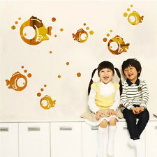 DIY Lovely Bubble Fish Wall Stickers Living Room Baby Room DIY Wall Decor Decal