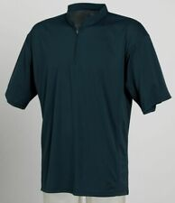 Mens Zip Neck Performance Sports Navy Top Running Gym Fitness Tombo TL61