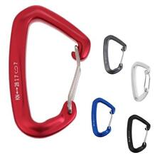 28KN 6200lbs Wire/Bent Gate Clip Carabiner Hook for Rock Climbing Caving Rescue