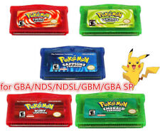 Pokemon Pocket Monster Gameboy Game Cards for NDS/GBA/NDSL/GBM/GBA SP US Version