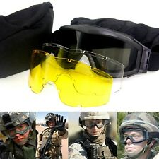 Tactical Military Airsoft Glasses Goggles Paintball Goggle Safety Shooting Lens