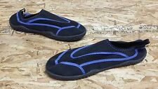 New Mens Maui And Sons Tide Water Beach Slip On Elastic Shoes Black/Blue 108W