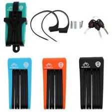 High Security Foldable Bike Lock with 3 Keys and Holder Cycling Accessories