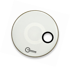 Aquarian Drumheads RSM16WH Regulator White 16-inch Bass Drum Head, gloss white