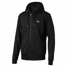 Puma Mens Style Sports Running Full Zip Hoodie Hooded Sweat Jacket Top Black