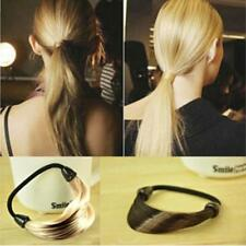 Fashion Girl Women Elastic Ponytail Holder Braid/Straight Wig Hair Band Rope Y2