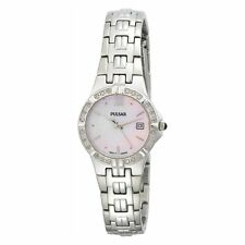 Pulsar mother-of-pearl Face  Ladies Analog Casual Silver Watch PXT703 PXT795