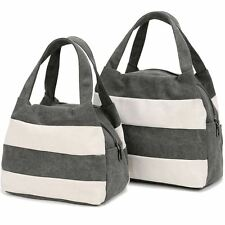 Summer Fashion Solid Color Casual Canvas Material Handbag For Women