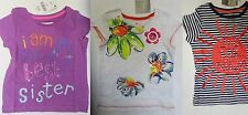 Girls top t shirt  NEXT baby 9 12 18 24 months 2  3 4 5 years NEW best sister