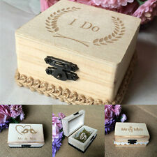 Wedding Ring Bearer Box Custom Personalized Wood Ring Box Rustic Ring Holder