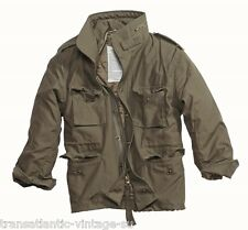 SURPLUS M65 FIELD JACKET WITH QUILTED LINER MENS MILITARY ARMY COMBAT COAT OLIVE