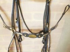 Barcoo bridle breastplate set ri12 barcoo brass oval name platted brow band SET