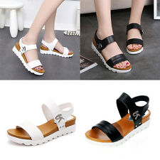 Womens Shoes Cleated Sole Thick Bottom Sandal Open Toe Flatform Beach Size 3-5.5