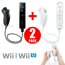 Wii Remote and Nunchuck Controller Set Motion Plus For Nintendo Wii/Wii U Game