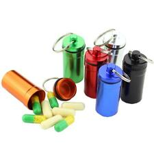 Waterproof Pill Box Case Seal Capsule Bottle Holder Aluminum Container Keychain