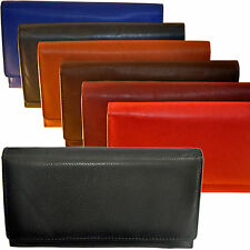 Ladies - Purse with 20 Compartments in fine Cattle leather / Wallet Purse