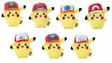 Pokemon Plush Doll Mocchi Mocchi Mini Ash Pikachu Hat Cap 7 Types JP