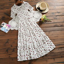 Elegant Summer Slim Japanese Sweet Short Sleeve Mori Girl Loose Chiffon Dress #3