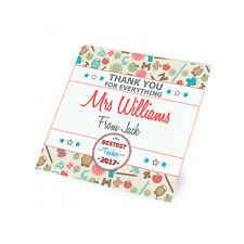 Personalised Thank You Teacher Teaching Assistant Glass Coaster Gift Present
