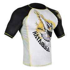 Hayabusa MMA Ninja Falcon Short Sleeve Rash Guard - Black - Yellow