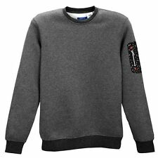 Adidas Originals Adventure Sleeve Pocket Crew Dark Grey Mens Medium Large XL 2XL