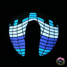 Glowing Blue Equalizer Mask - Carnival festival - Sound Activated - with driver
