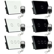 1/2/3 Gang Waterproof Touch Sensor Panel Wall Lamp Light Switch with Controller