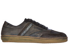 BIKKEMBERGS MEN'S SHOES LEATHER TRAINERS SNEAKERS NEW BANDING 985 VINTAGE GR 60F