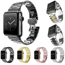 USA Stainless Steel Wrist Bracelet Metal Clasp For Watch Band iWatch 38mm/42mm