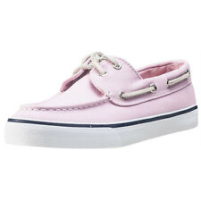 Sperry Bahama Womens Pink Canvas Casual Boat Shoes Lace-up Genuine Shoes