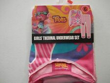 Girls Thermal Underwear Set NEW DreamWorks Trolls 2 Piece Outfit Various Sizes