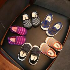 New 2017 Kids Baby Boys&Girls Fall Breathable Slip-on Cloth Soft-soled Shoes