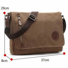 Men's Canvas Tote Cross Schoolbag Satchel Shoulder Messenger Bag Laptop Book Bag