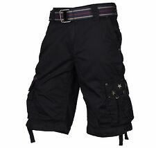 AFFLICTION Longboard 110WS136 Men`s New Black/Charcoal Cargo Shorts