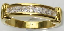 BN202 18KT 4MM band PRINCESS ETERNITY  SIMULATED DIAMOND RING PRETTY LOW PRICE