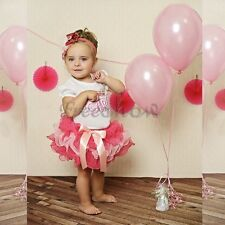 Baby Girls Birthday Toddler Top Shirt Tutu Skirt Outfit Party Dress 6-24 Months