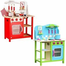 Large Wooden Childrens Kids Kitchen Cooking Role Play Pretend Toy Cooker Game